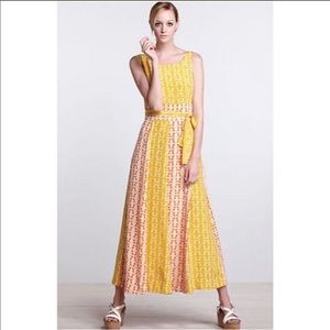 Anthro by Charlotte Hummingbird silk maxi Dress